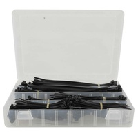 CABLE TIE 100-200MM BLK W/CASE PK400