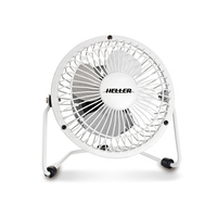 10Cm High Velocity Mini Metal Fan White With Usb