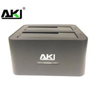KIMAX Dual 2.5 To 3.5Inch HDD USB 3.0 SATA Clone Dock Silver