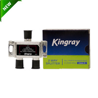 Kingray 2 way F-Type Splitter Foxtel Approved F30950 All Ports Power Pass