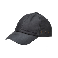 Didgeridoonas Australian Leather Cap Black leather baseball style cap