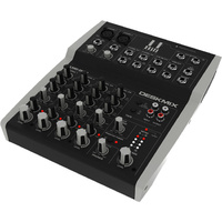 Hill Audio 8 In 2 Out Stereo Mixer Metal Case with an External Power Supply