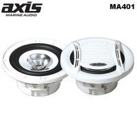 AXIS 100mm Dual Cone Marine Speakers 25W RMS Peak Power 90Watts Finished in Marine White