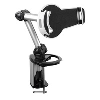 Brateck 2in1 Aluminium Desk Clamp Holder For 7-10.4 Inch Tablets Adjustable Legs