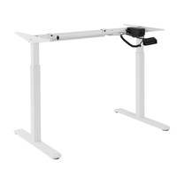 Brateck 2Stage Single Monitor Electric Sit Stand Desk Frame Button Control Panel White