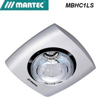 Martec Contour 1  Bathroom Heater is a stylish simple heat lamp unit silver