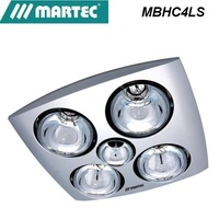 Martec Contour 4 Bathroom Heater  Exhaust Fan and Light silver