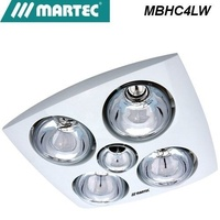 Martec Contour 4 Bathroom Heater Exhaust Fan and light white