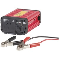 400W -1200W 24VDC to 230VAC Modified Sinewave Inverter with USB Includes Battery Lead with Alligator Clips