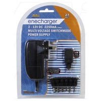 Enecharger MW3IP25SA 27W Power Supply 100-240VAC to 3-12VDC at 2.25 Amp