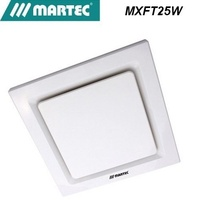 Martec Tetra White modern design Exhaust Fan featuring a gloss white centre