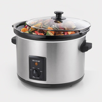 Maxim Slow Cooker 5L Cook for up to 12 Hours on Lowest Setting