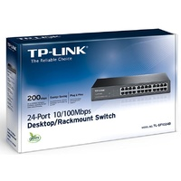 TP Link SF1024D 24 Port Switch 13-inch Desktop steel case 4.8 Gbps Switching Cap