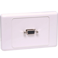 VGA Wallplate Dual Cover - Screw Connections