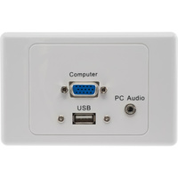 PRO2 USB VGA PC Audio Wallplate