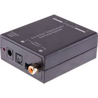 ACTIVE TOSLINK SPLITTER 2 IN 4 OUT SWITCHER/SPLITTER