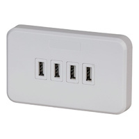 Jackson 240V GPO WallSocket with 4 Port USB 3.15A Output with 3.1 Amps