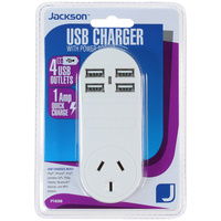 Jackson 4 Outlet USB Charger Power Outlet