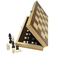Quack Chess Set Timber with wooden pieces