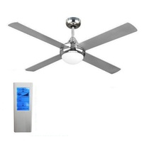 Revolve 48 inch ceiling fan brushed chrome with light(2xE27) and remote