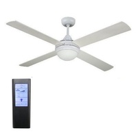 Revolve 48 inch ceiling fan white with light (2xE27) and touchpad remote