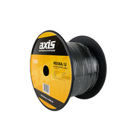 AXIS 50 Ohm RG58 Low Loss Black Shielded Coaxial Cable 100m Roll