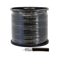 DOSS 75 ohm coax cable Quad shield RG6 100m Roll for Digital TV