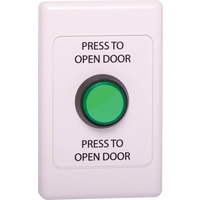 Push To Open Wallplate With Green LED Pushbutton Switch