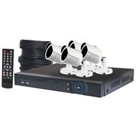 4MP AHD Real Time CCTV Hybrid DVR + 4 Camera Bullet Package