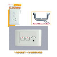 2 Switches +1 Socket Wall Plate