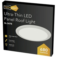 10W Ultra-Thin LED Panel Roof Light, ,215mm, Cool White