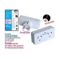 Double Power Outlet Travel Adaptor AUSTRALIA to EUROPE