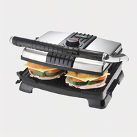 Maxim Stainless Steel Sandwich Press & Grill non stick Surface Brand New