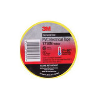 3M Scotch PVC Electrical Tape 1710 Yellow 18mm x 20m Pack(10) flexible T030055