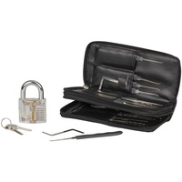 24 Piece Lock Picking Kit with Practice Padlock 3 Torsion Wrenches 20 Picks