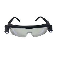 Safety Glasses with LED Lights with 4.0pc batteries Adjustable arm lengths
