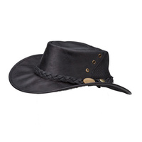 Didgeridoonas Australian Leather Ranger Hat Ranger Hat leather hat water repellent