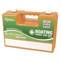 Boating First Aid Kit Water-resistant hard plastic case 316 marine grade hinges