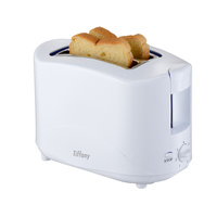Tiffany 750w 2 Slice Cool Touch Toaster 7 Settings Auto Pop Up TTW2 WHITE-NEW