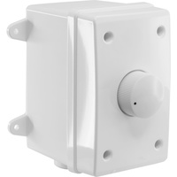 WHITE OUTDOOR VOLUME CONTROL 40W - IMPEDANCE MATCHED