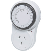 Mechanical Mains Timer 24 Hour Very easy to use simply rotate the dial to set the time