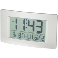 LCD Wall Clock with Calendar and Temperature Huge 194 x 110mm LCD to provide convenient time display