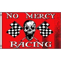 No Mercy Racing Checkered Flag 5x3 Ft